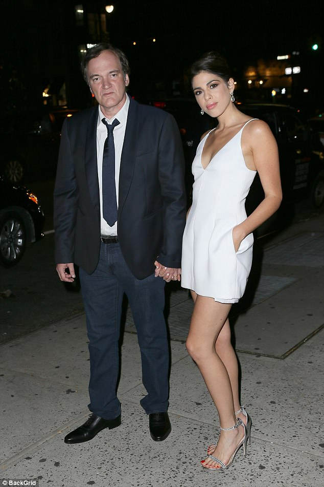 Hand in hand!Quentin Tarantino and his bride-to-be Daniela Pick enjoyed a star-studded engagement party in New York City , courtesy of pal and Hollywood hotshot Harvey Weinstein