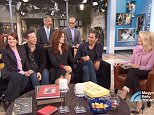 Request for comment:Debra Messing was asked by an Instagram follower why she and the cast of 'Will & Grace' appeared on 'Megyn Kelly Today' on Monday (front l to r: Megan Mullally, Sean Hayes, Debra messing, Eric McCormack and Megyn Kelly back row l to r: David Kohan and Max Mutchnik)