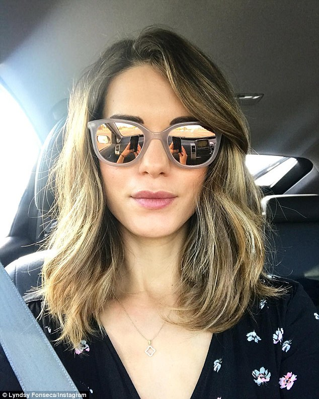 On the road again: The actress snapped a selfie earlier this month during a trip to San Diego