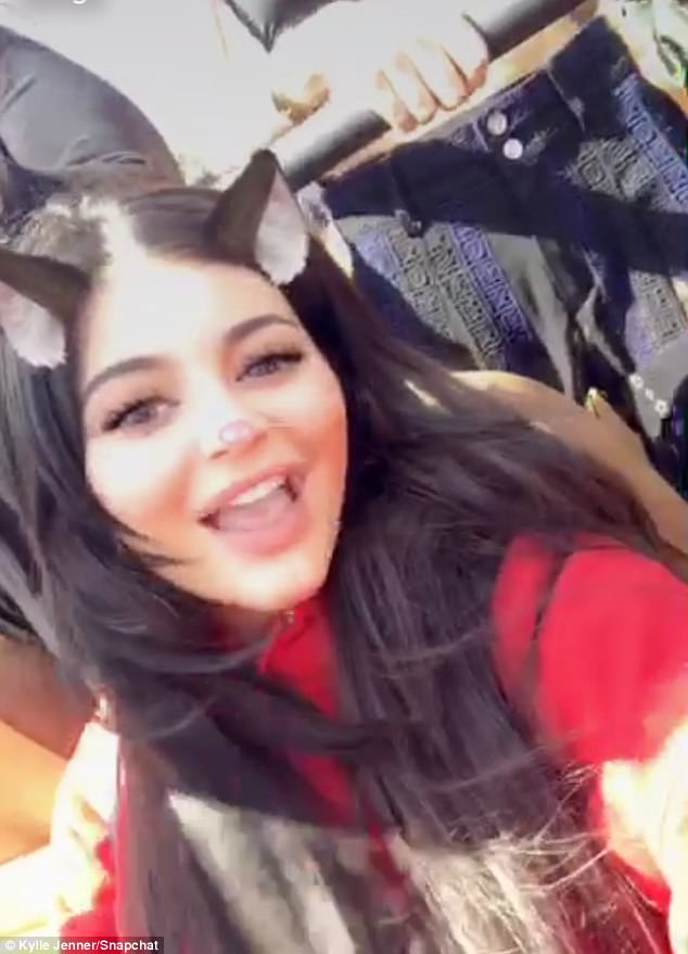 Having a blast:While Kylie Jenner became one of the top hashtags trending on Twitter around the world, the star herself enjoyed a more relaxed Friday