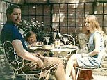 Lord and Lady Lucan and their daughter Frances in the garden of 46 Lower Belgrave Street