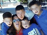 The mother of the four boys is pictured here. She has been named locally as Rocio Aguilar