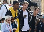 *EXCLUSIVE* ** RIGHTS: ONLY UNITED KINGDOM ** Venice, ITALY  - Young fashion models out in force as the famous celebrity sons such as Jude Law's Rafferty Law, P Diddy's son Christian Casey Combs, Gad Elmaleh's son Noe Elmaleh along with Austin Mahone, Cameron Dallas and Tommy Lee's son Brandon Thomas Lee all looking stylish as they partake in a Photoshoot for Dolce and Gabbana in Venice, Italy\\n\\nPictured: Cameron Dallas, Christian Casey Combs, Rafferty Law and Brandon\\n\\nBACKGRID UK 26 SEPTEMBER 2017 \\n\\nBYLINE MUST READ: CIAOPIX / BACKGRID\\n\\nUK: +44 208 344 2007 / uksales@backgrid.com\\n\\nUSA: +1 310 798 9111 / usasales@backgrid.com\\n\\n*UK Clients - Pictures Containing Children\\nPlease Pixelate Face Prior To Publication*