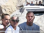Jeremy Meeks, the convicted felon turned model, was pictured with girlfriend and Topshop heiress Chloe Green, 26, as the pair met her mother Tina while attending the Monaco yacht show