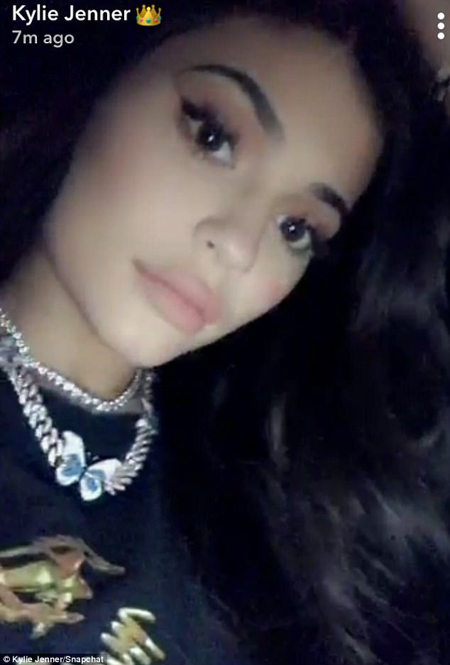 Scaled back: Social media savvy Kylie has been restrained in her usually frequent posts