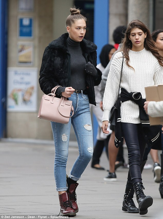 Spotted: Elsie Hewitt surfaced Thursday alongside friends in London's Soho neighborhood