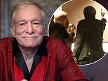 Hugh Hefner's grieving children raised a toast as they gathered in a California restaurant to remember their Playboy mogul father just hours after his death