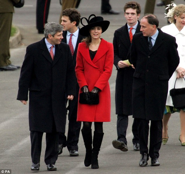 In 2006 Kate Middleton looked elegant in vibrant red as she arrived at Sandhurst to watch graduates, including Prince William, march in the Sovereign's Parade. The couple were not pictured together on this occasion