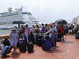 Thousands of people lined up at San Juan Harbor on Thursday to board a cruise ship that will take them to the United States, and many have said they don't think they will ever come back