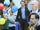 I scream, you scream:Donald Trump Jr celebrated son Tristan's sixth birthday on Thursday with a trip to a New York City ice cream parlor located three blocks from the family's home ( l to r: Chloe, Vanessa, Kai, Spencer, Don Jr and Tristan)
