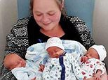 The triplets lived with their mother but were due to move out as the privately owned house has been sold. Pictured, the babies in a social media photograph