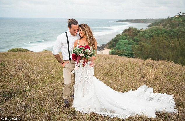 The nuptials:They have been dating since 2008 and a few times took breaks. They wed in Hawaii in November