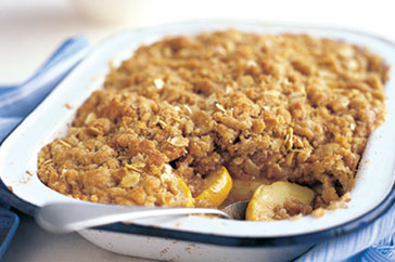 apple crumble: