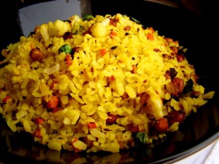 flat rice pulao: