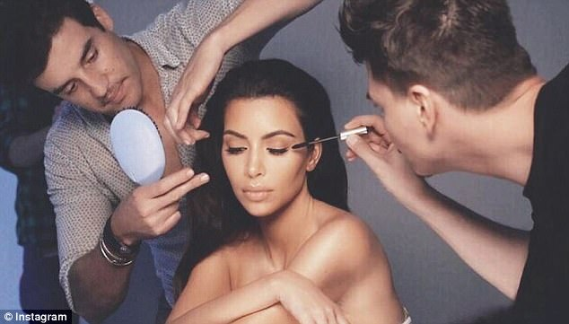Cashing in: The Kardashians have millions of followers on social media and use the platforms to promote their beauty products