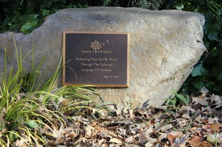 Inspirational Plaque in Oakhurst Garden
