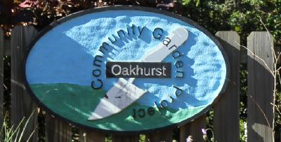 Oakhurst Community Garden Project sign