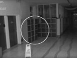 Ghosts have been blamed for a series of unexplained disturbances at a school, caught on camera in bizarre new footage
