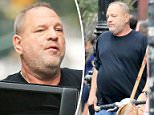 Down and out in lower Manhattan:Harvey Weinstein was seen looking downcast after news broke that he sexually harassed a number of female employees over the past three decades (above) in photos taken by DailyMail.com
