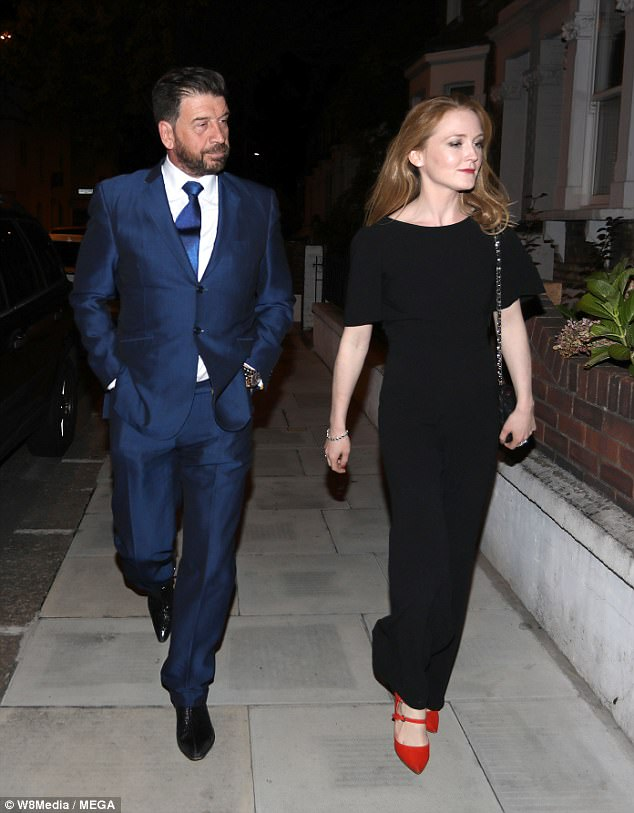 His biggest fan: Nick is said to have found love with Lark Rise to Candleford actress Olivia Hallinan, 32, (pictured) after 'dumping' TOWIE's Pascal Craymer, 30