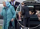 Aberdeen, Scotland, Tuesday 10th October 2017 The Queen has left Scotland as her long summer break ended. Her Majesty boarded a plane at Aberdeen Airport along with her 3 dogs.  Picture by Michal Wachucik / Abermedia