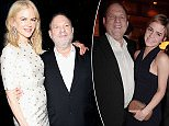Victim:Gwyneth Paltrow claims she was sexually harassed by Harvey Weinstein (pair above in 2002) at the start of her career