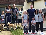 How the other half live: The Leamon family swapped their home on a Southampton council estate for the £1.5million Wiltshire mansion of the wealthy Fiddes family