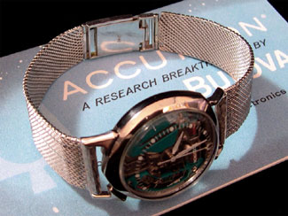 14k White Gold Accutron Alpha Spaceview with 14k Bracelet