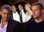 Confessions of dangerous minds:Matt Damon and George Clooney sat down to discuss the Harvey Weinstein sexual harassment and assault scandal with 'Good Morning America' (above)