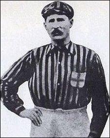 Herbert Kilpin in his AC Milan kit during the 1890s