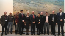 Thomas McCann (first left), Traveller Counselling Service, Anastasia Crickley( 6th from left), Chairperson Pavee Point, Ronnie Fay (8th from left) Co Director Pavee Point, Martin Collins (10th from left) Co Director Pavee Point with members of the Joint Oireachtas Committee on Justice and Equality.