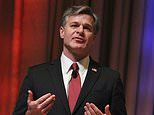 FBI Director Christopher Wray speaks at the International Association of Chiefs of Police annual conference Sunday, Oct. 22, 2017, in Philadelphia. Wray said federal agents haven't been able to retrieve data from more than half of the mobile devices they've tried to access in a year. (AP Photo/Michael Balsamo)