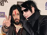 Marilyn Manson has parted ways with his longtime bassist and guitarist Twiggy Ramirez (pictured together)