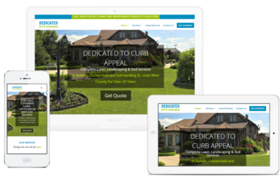 Landscaping Company Web Design