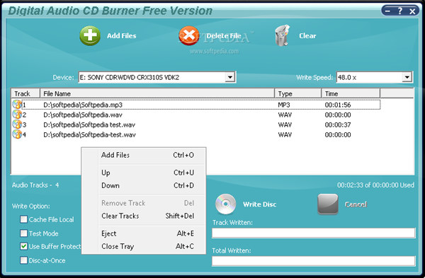 Digital Audio CD Burner