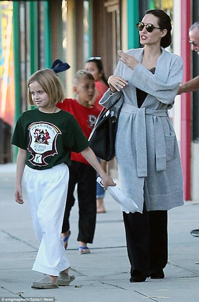 Just the two of us: Earlier in the day the 42-year-old actress was spotted bringing her daughter Vivienne to a Karate class