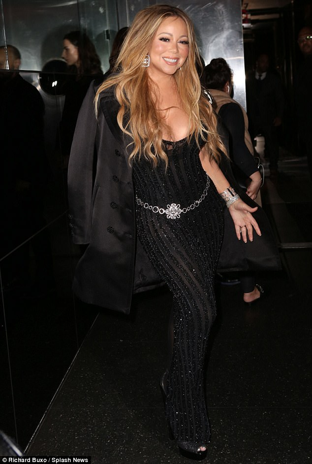Glitter: The Star songstress glittered from head-to-toe in her dress and accessories