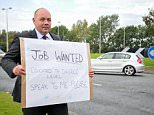 Wayne Taylor (pictured) resorted to drastic measures after failing to get 400 jobs he applied for. The 46-year-old stood outside the entrance to Chester Business Park with a sign reading 'Job wanted. Educated to degree level. Speak to me please' in a bid to get an offer. He's starting a new jobtoday as a specialist engineer with a company near his home