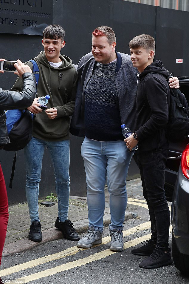 Famous already! Brothers Sean and Conor Price were stopped by a fan for a photo