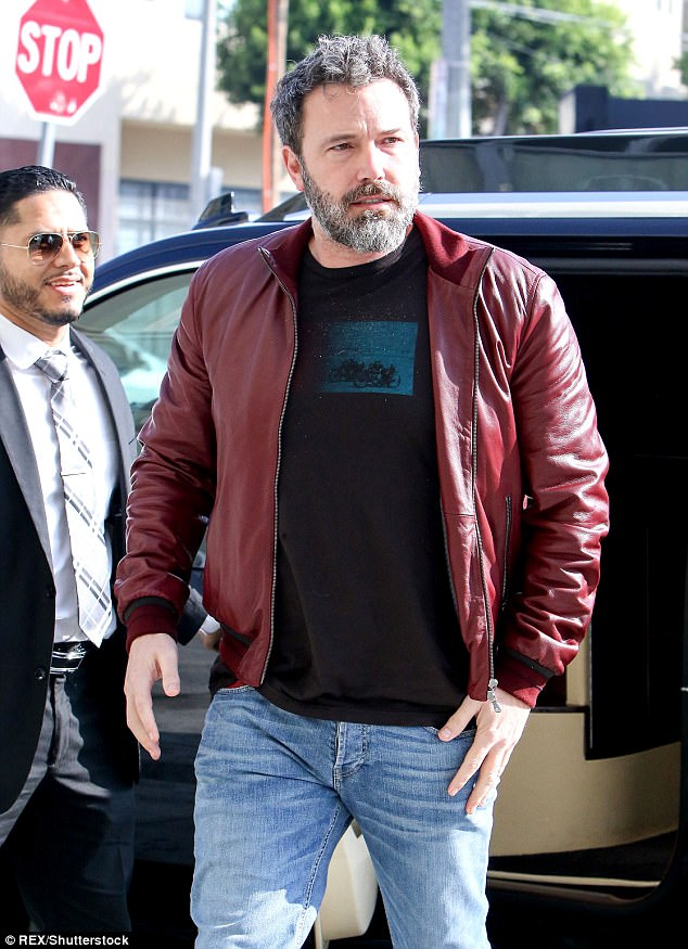 Inappropriate: The incident between Burton and Affleck came to light just hours after the Batman star made a statement condemning Harvey Weinstein's alleged abusive actions in his sexual assault and harassment scandal