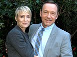 TV villain: Kevin Spacey pictured with House of Cards co-star Robin Wright in 2013