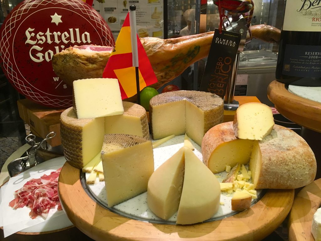 Make your way to the Cheese Room to get a serving of Jamon Iberico and Manchego Cheese