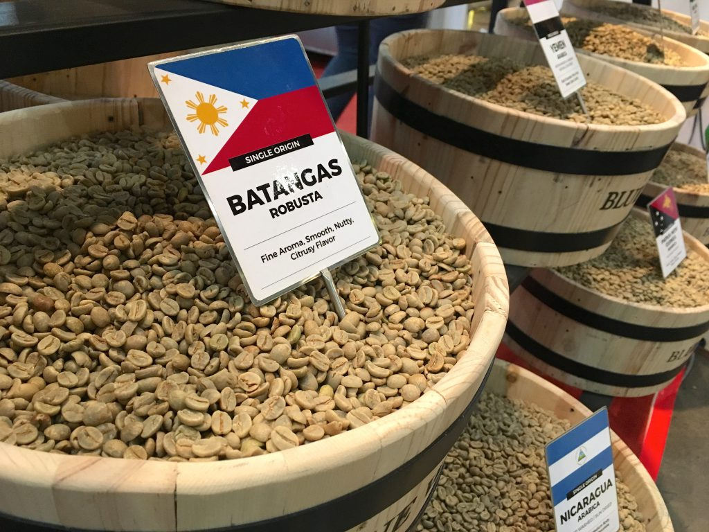 Source coffee beans from different countries