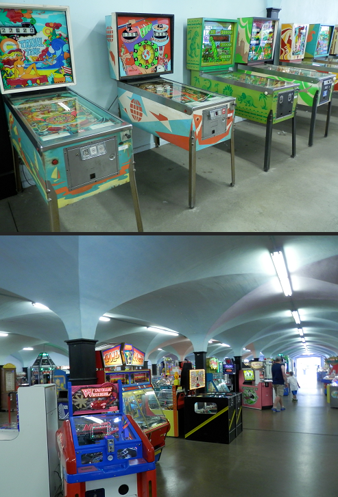 Cedar Point arcade and pinball machines, first floor of the coliseum