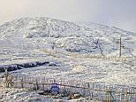 Glencoe, in Scotland, woke up to a blanket of snow across hilly areas on Sunday as winter arrived in the UK with temperatures expected to plunge for most of the country on Sunday night