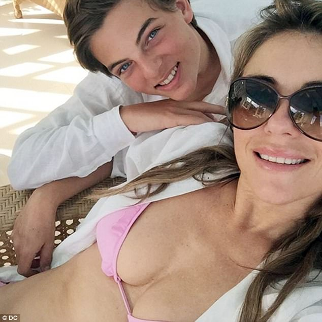 Out of the spotlight: The 52-year-old Bedazzled star told The Daily Telegraph that she would not want Damian to garner the attention attached to being a star, despite his role as Prince Hansel von Liechtenstein in her E! series The Royals
