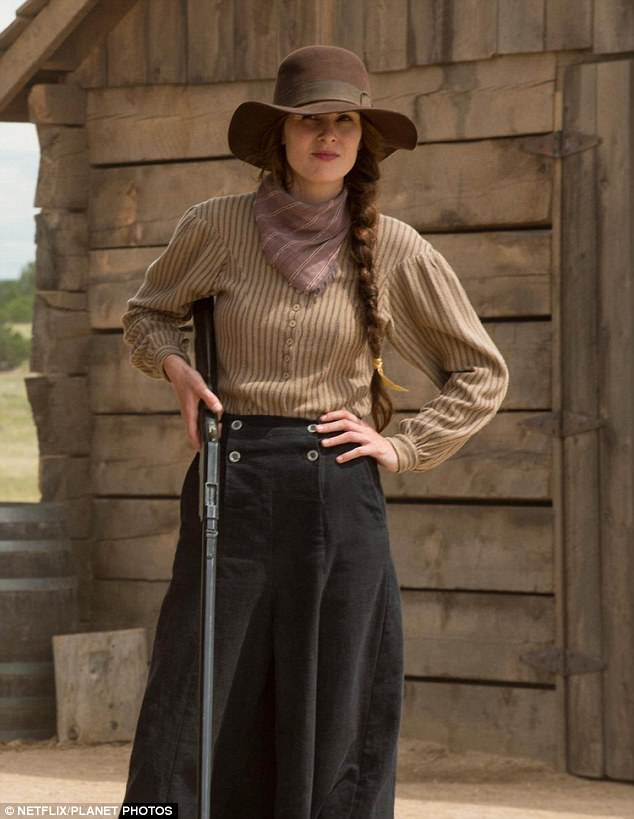 Bang bang: Michelle Dockery could be seen touting a gun in upcoming Netflix limited series Godless