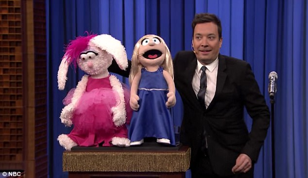 Unexpected addition: He took a position next to two puppets to lip sync the song Issues by Julia Michaels