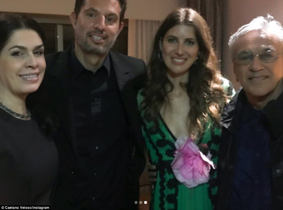 And a vacation, too: The couple had guests fly to Rio de Janeiro for the event. Among them was Caetano Veloso, a Brazilian composer, singer, guitarist, writer, and political activist, who brought his wife along