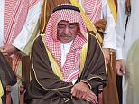 Prince Muqrin bin Abdulaziz was today pictured at the funeral, carrying his son's body and sorrowfully bowing his head as the kingdom continued to reel from Crown Prince Mohammed bin Salman's sweep on suspected fraudsters